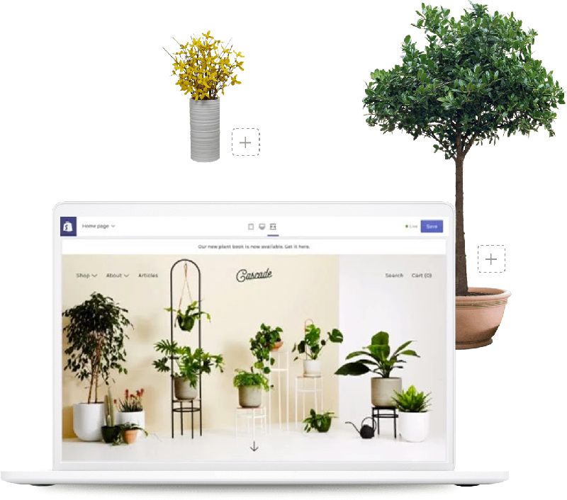 Bring your products to life with an ecommerce website.
